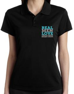 Real Men Love Andean Condor Polo Shirt-Womens