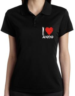 I Love Aikido Polo Shirt-Womens