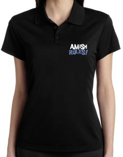 Amish Rules! Polo Shirt-Womens