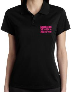 Hello My Name Is Abarne Polo Shirt-Womens