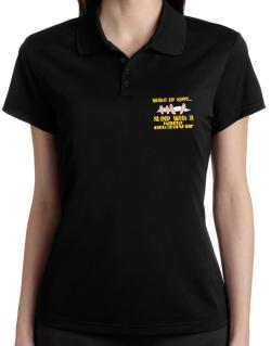 wake up happy .. sleep with a Hand Engraver Polo Shirt-Womens