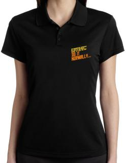 Parking Patrol Officer Do It Normally ... Polo Shirt-Womens