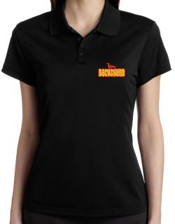 Breed Color Dachshund Polo Shirt-Womens