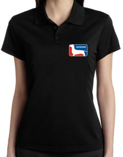 Dachshund Sports Logo Polo Shirt-Womens