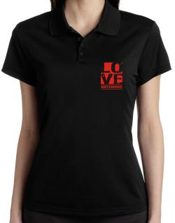 Love Abecedarian Polo Shirt-Womens