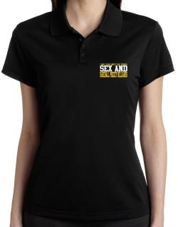 I Only Care About 2 Things : Sex And Baseball Pocket Billiards Polo Shirt-Womens