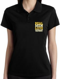 Real Men Love Australian Shepherds Polo Shirt-Womens