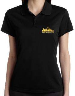 Seattle, Washington skyline Polo Shirt-Womens