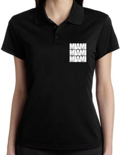 Miami three words Polo Shirt-Womens