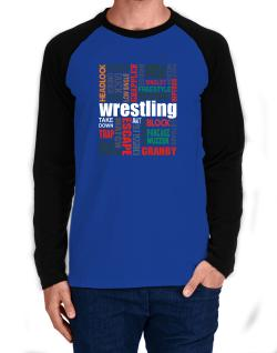 Wrestling Words Long-sleeve Raglan T-Shirt