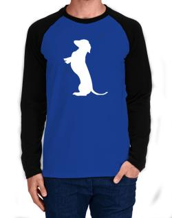 Begging Dachshund Long-sleeve Raglan T-Shirt