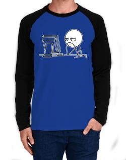 Computer guy Long-sleeve Raglan T-Shirt