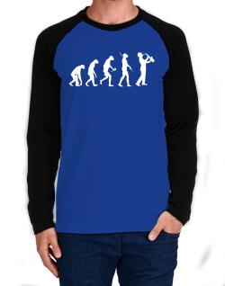 Raglan Manga Larga de Saxophone Player Evolution