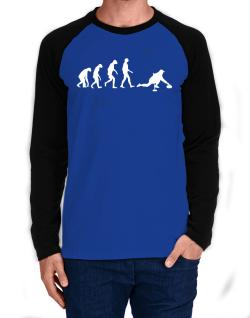 Curling Evolution Long-sleeve Raglan T-Shirt