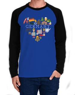 Raglan Manga Larga de I love Germany