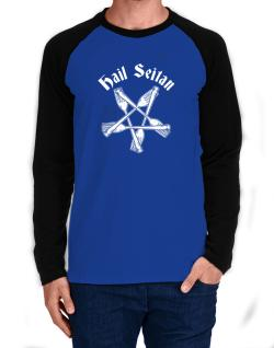 Hail Seitan Long-sleeve Raglan T-Shirt