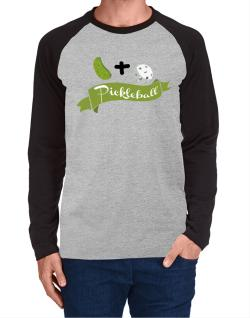 Pickle plus ball equals pickleball Long-sleeve Raglan T-Shirt