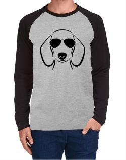 Dachshund Sunglasses Long-sleeve Raglan T-Shirt