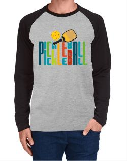 Pickleball fan Long-sleeve Raglan T-Shirt
