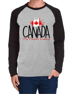 Canada my favorite country Long-sleeve Raglan T-Shirt
