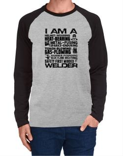 Raglan Manga Larga de I am a welder