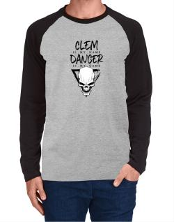 Clem is my name danger is my game 2 Long-sleeve Raglan T-Shirt