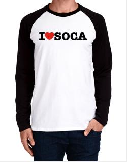 I Love Soca Long-sleeve Raglan T-Shirt