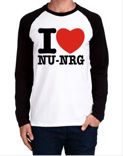 I Love Nu Nrg Long-sleeve Raglan T-Shirt