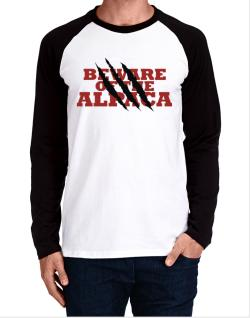 Beware Of The Alpaca Long-sleeve Raglan T-Shirt