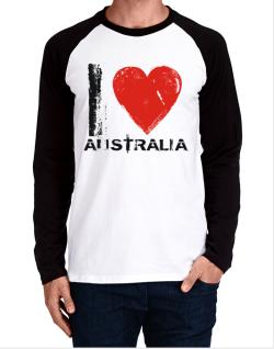 I Love Australia - Vintage Long-sleeve Raglan T-Shirt