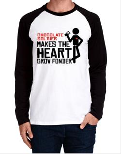 Chocolate Soldier Makes The Heart Grow Fonder Long-sleeve Raglan T-Shirt