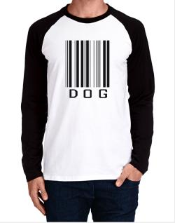 Dog Barcode / Bar Code Long-sleeve Raglan T-Shirt