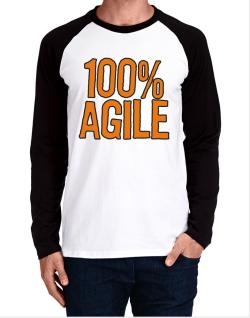 100% Agile Long-sleeve Raglan T-Shirt