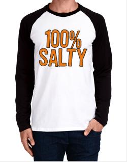 100% Salty Long-sleeve Raglan T-Shirt
