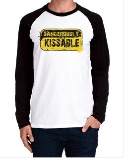 Dangerously Kissable Long-sleeve Raglan T-Shirt