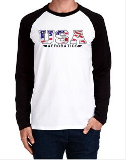 Usa Aerobatics / Flag Clip - Army Long-sleeve Raglan T-Shirt