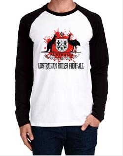 Australia Australian Rules Football / Blood Long-sleeve Raglan T-Shirt