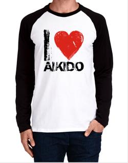 I Love Aikido Long-sleeve Raglan T-Shirt