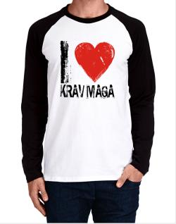 I Love Krav Maga Long-sleeve Raglan T-Shirt