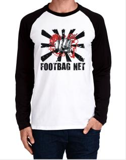 Footbag Net Fist Long-sleeve Raglan T-Shirt
