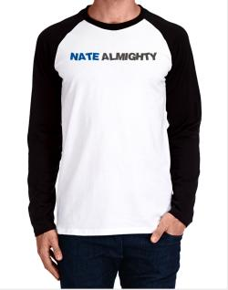Nate Almighty Long-sleeve Raglan T-Shirt