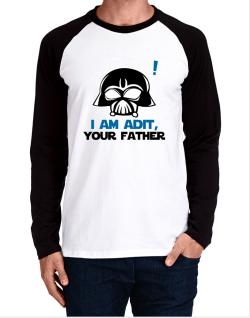 I Am Adit, Your Father Long-sleeve Raglan T-Shirt