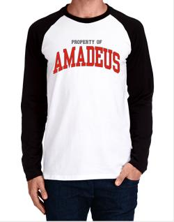 Property Of Amadeus Long-sleeve Raglan T-Shirt