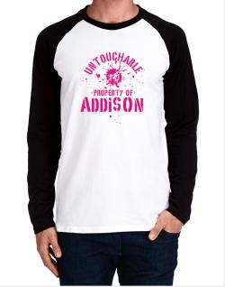 Untouchable : Property Of Addison Long-sleeve Raglan T-Shirt