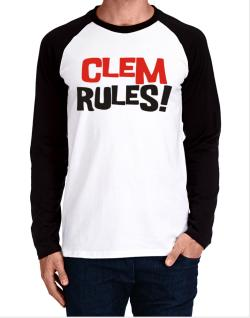 Clem Rules! Long-sleeve Raglan T-Shirt