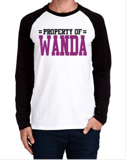 Property Of Wanda Long-sleeve Raglan T-Shirt