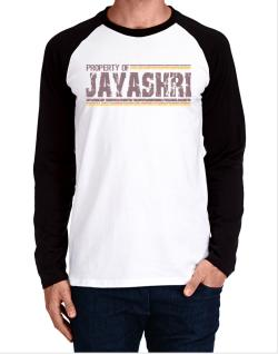 Property Of Jayashri - Vintage Long-sleeve Raglan T-Shirt
