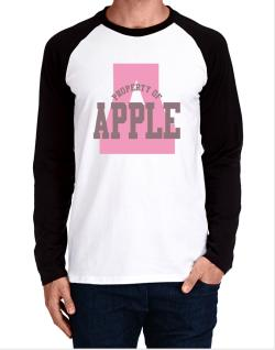 Property Of Apple Long-sleeve Raglan T-Shirt