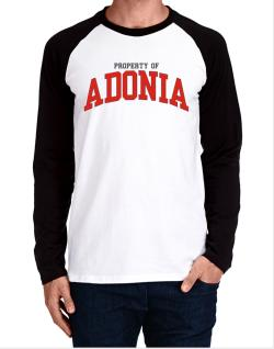 Property Of Adonia Long-sleeve Raglan T-Shirt