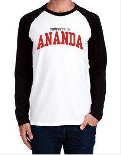Property Of Ananda Long-sleeve Raglan T-Shirt